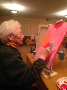 mom painting