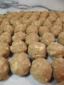 Meatballs? Nope. Naked duck eggs!