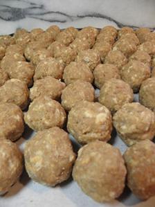 Meatballs? Nope. Naked duck eggs!