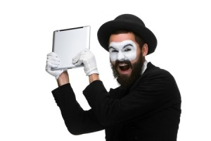 Even Hasidic Jewish mimes suffer Samsung rage. Where will the madness end?
